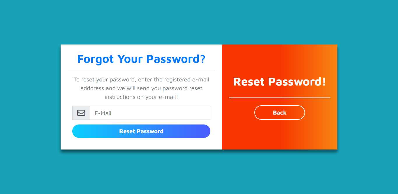 Forgot Password Form Using Bootstrap 4
