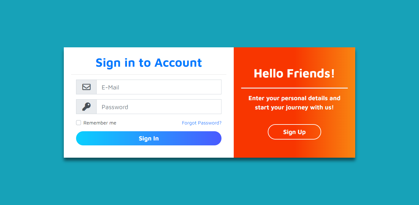 Login Form Using Bootstrap 4
